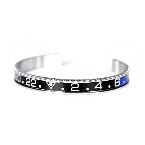 BeiChong Speedometer Stainless Steel Watch Style Bracelet Jewelry for Men (Black&Blue) from BeiChong