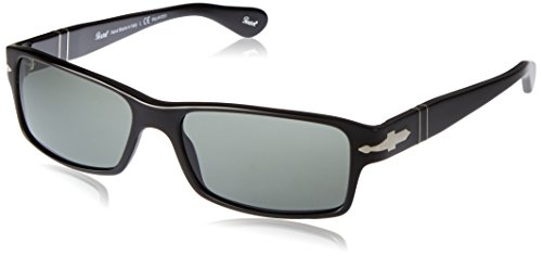 Persol PO2747S 95/48 Sunglasses, Black Acetate Frame, Green Polarized 57mm ()