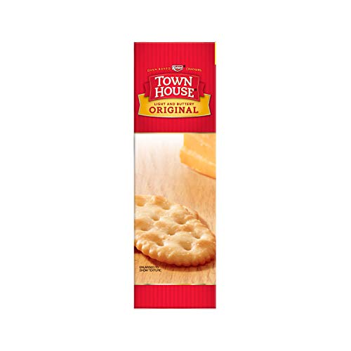 Keebler, Town House Snack Crackers, Light and Buttery, Original, Family Size, 20.7 oz