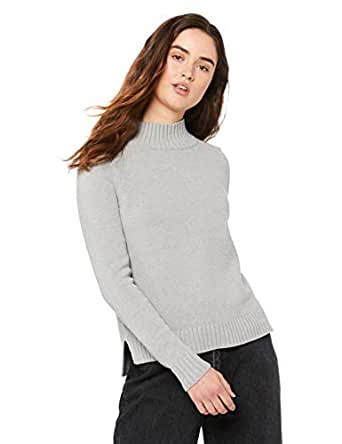 Mossimo Women's Lover high Neck Knit, Grey Marle, 10