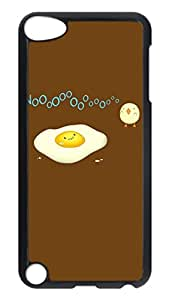 Brian114 Case, iPod Touch 5 Case, iPod Touch 5th Case Cover, Cute Cartoon Eggs Retro Protective Hard PC Back Case for iPod Touch 5 ( Black )