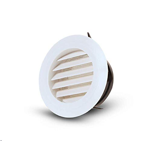 - Bewox Plastic Round Air Vent Grill Cover Ventilation Ducting Hose Louver Covers for Wall Ceiling Mounted (3 Inch)