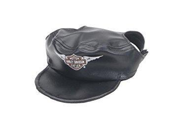 Harley Davidson Dog Clothes - Harley-Davidson Vinyl Cap Black Small