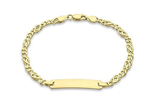 """Jewellery World Bague en or jaune 9carats 80celtique Bracelet d'identité 18cm/7"""""""