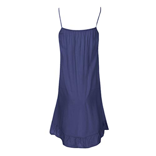 TUSANG Women's Fashion Sleeveless Summer Tassel Cotton Fashion Long Dress Sexy Slim Fit -