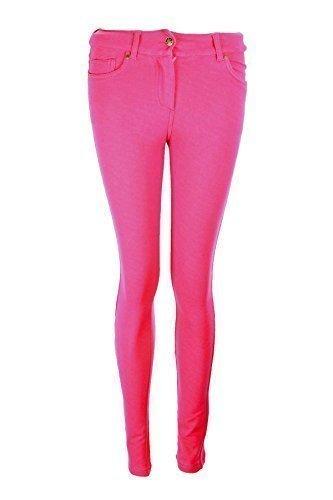 Fantasia Boutique nouvelles dames SKINNY FIT color JEANS EXTENSIBLE Leggings femmes 8-14 Fuchsia