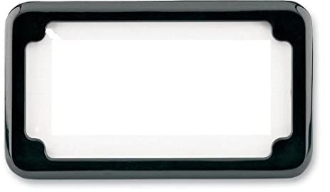 Amazon.com: Cycle Visions Beveled License Plate Frame No Light BLK ...