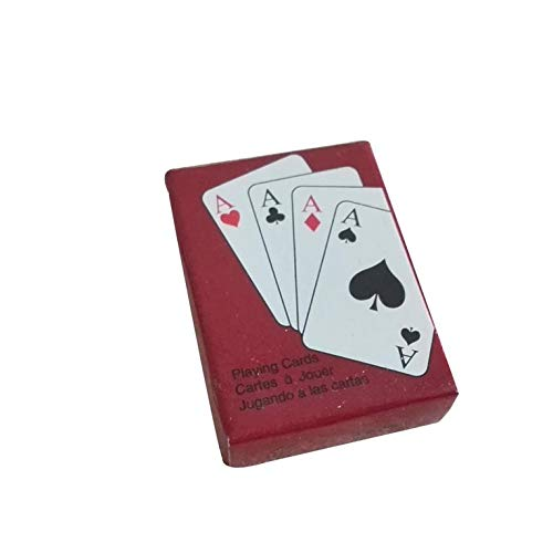 N/V Playing Poker CardsPortable Mini Small Poker Interesting Playing Card Board Game Outside Outdoor or Travel Mini Size Pokers Red