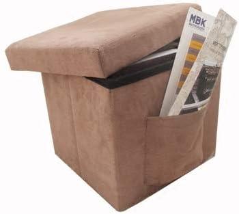 Kitrack Caja De Almacenaje Plegable con Tapa Desmontable Escabel Heces Banco Otomano 30 X 30 X 30 Cm: Amazon.es: Deportes y aire libre
