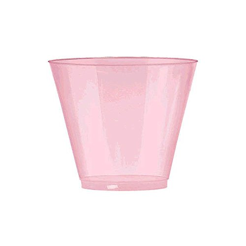 Amscan Pretty Big Party Pack Pink Plastic Cups Tumblers, Pearl Pink by Amscan