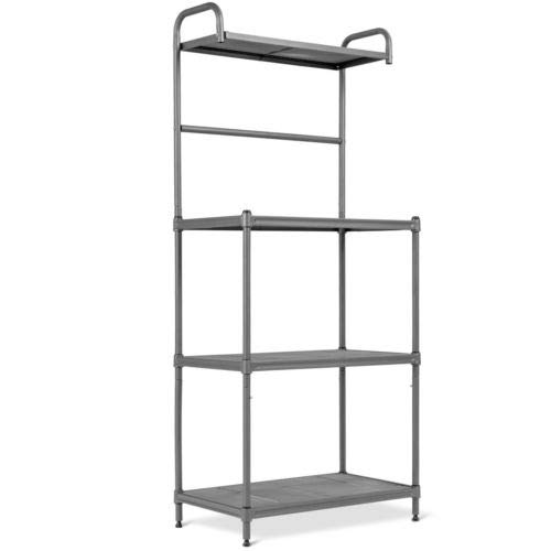 Baker's Rack Microwave Oven Stand Shelves Kitchen Storage Rack Organizer 4-Tier by Shining (Image #7)