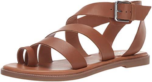 Franco Sarto Women's Kehlani Flat Sandal, Light Brown, 5.5 M US