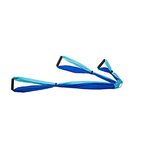 Home Gym Large Bearing Yoga Swing Sling Hammock Trapeze For Joyful Yoga Inversion Tool (Sky Blue+Blue)