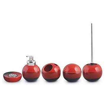 Aquashine Premium Stanza da Bagno Accessori Set No Limits Prezioso Materiale Moderno Designs - Set Cappuccino