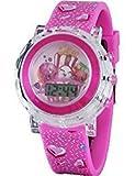 Shopkins D'lish Donut, Poppy Corn, Strawberry Kiss Girls Digital Light Up Pink Watch (KIN4051)