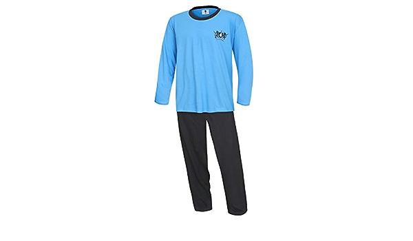 KB Socken® - Pijama para hombre (tallas XL, 2XL, 3XL, 4XL, 100% algodón)