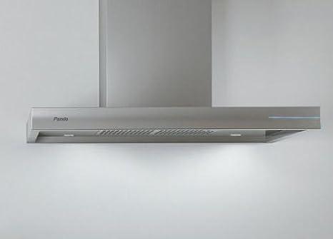 Pando P-803 680 m³/h De pared Acero inoxidable - Campana (680 m³/h, Canalizado, 38 dB, 55 dB, De pared, Acero inoxidable): Amazon.es: Hogar
