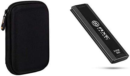 AmazonBasics, Funda de Disco Duro, Color Negro y Naranja + AXE 512GB Compact Portable SSD, velocidades de hasta 1000 MB/S de Lectura, 950 MB/S de Escritura, USB: Amazon.es: Informática