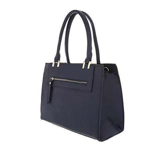 oscuro Azul al Ital hombro Bolso de para One mujer Design Sintético azul Size qqBv8