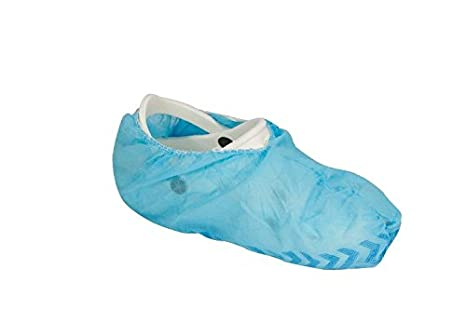 Medi-Inn OP Lot de 100 Surchaussures jetables en CPE à mettre par-dessus les chaussures normales