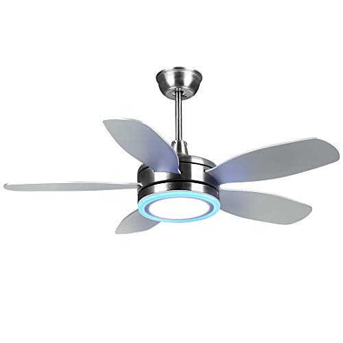 Tropicalfan Modern LED Ceiling Fan with Remote Control One Light Cover Home Indoor Fans Chandelier 5 Reversible Blades 42 Inch For Sale