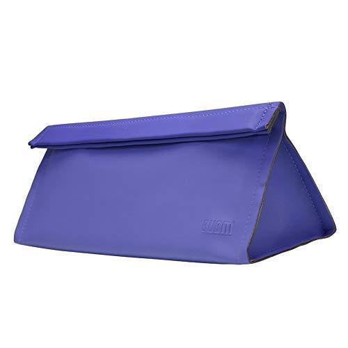 Magnetic Flip PU Leather Case for Dyson Supersonic Hair Dryer & Dyson Airwarp Curling Iron Basstop Portable Moistureproof Anti-scratch Dustproof Organizer Travel Gift Case (Bag, Blue)