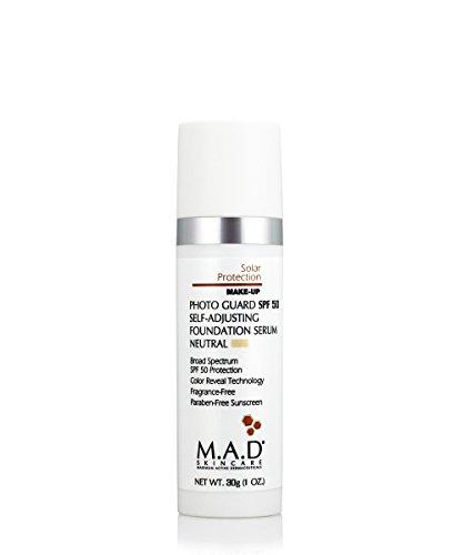 (M.A.D Skincare Photo Guard SPF 50 Broad Spectrum Self-Adjusting Foundation Serum - Neutral - by Maximum Active Dermaceuticals)