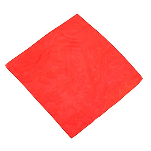 Red Silk Handkerchief Magician Stage Prop Prom Suit Jacket Pocket Square Tux Accessory