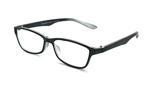 EYE-ZOOM Simple Style Reading Glasses Comfort Fit for Men and Women Choose Your Magnification, Black, +1.00 - Bridge Comfort Glasses