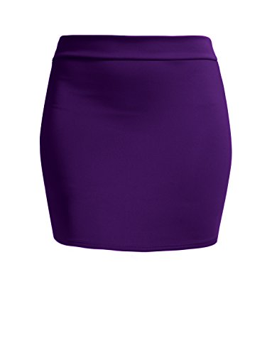 NE PEOPLE Women's Stretch Knit Bodycon Mini Pencil Skirt Made in USA ()
