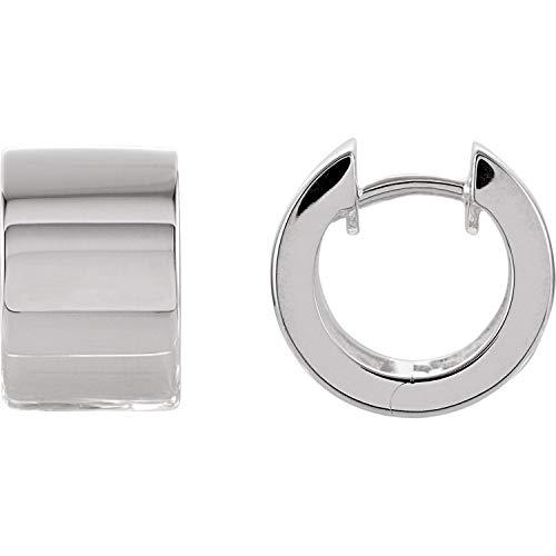 - Sterling Silver 13.5mm Hinged Earrings