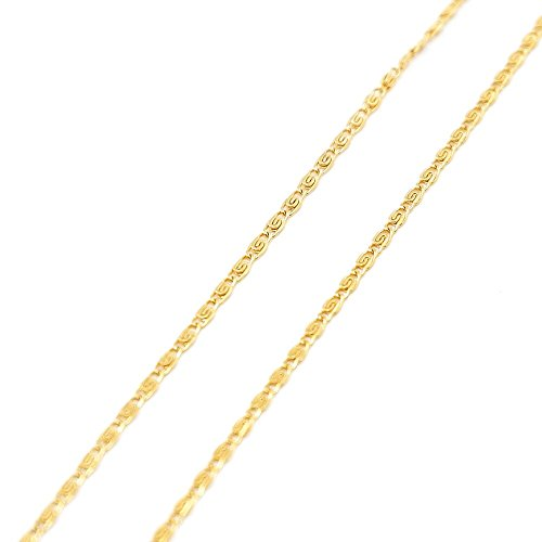 ROMANTAE 18K Gold chain necklaces for women men unisex-Italian Design 2MM Wear Alone or with Pendant Sizes 16