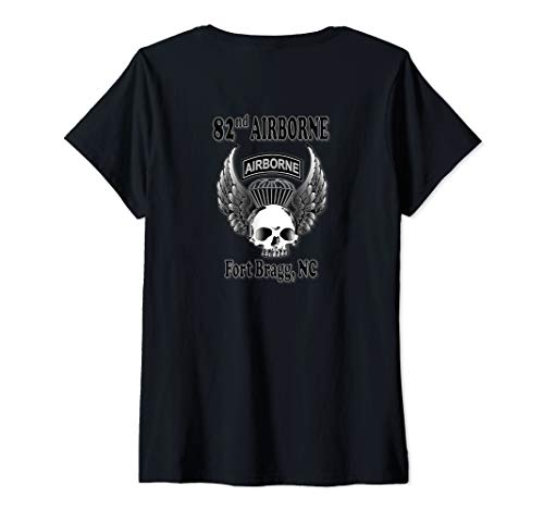 Womens 82nd Airborne Division V-Neck T-Shirt