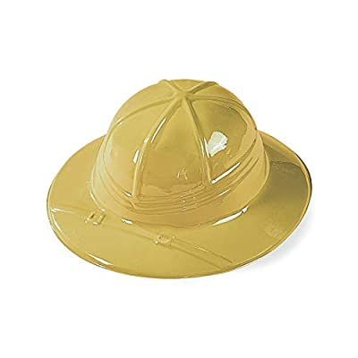 Fun Express Plastic Safari Hats (1 Dozen) Adventure Pith Helmet, Jungle Exploration, Party Favors, Decorations and Costume Accessories, OSFM Children: Toys & Games