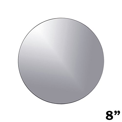 BalsaCircle 12 pcs 8-Inch Round Glass Mirrors for