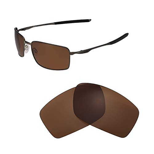 Walleva Replacement Lenses for Oakley Square Wire II (OO4075 Series) - Multiple Options Available (Brown - ()