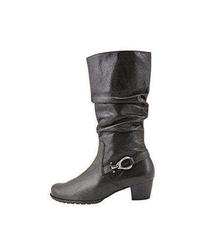 Les Femmes Semler Cleo 51403 3/4 Bottes En Cuir Lisse Économie Noire