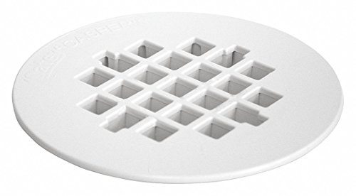 (OATEY Plastic White Replacement Shower Strainer Pipe Dia, Snap in Connection - Drains)