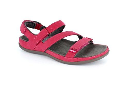 Sandalias ortopédicas Montana fáciles de poner Hot Pink - Nubuck