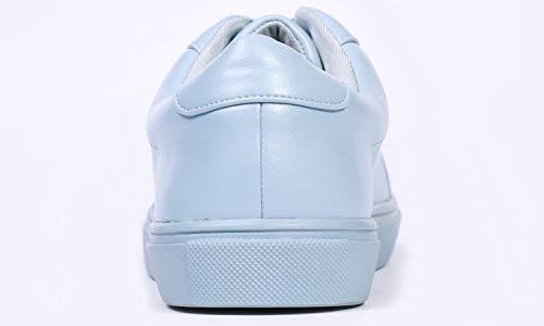 Femme Bleu Cuir Lacets En Women's Feversole up Clair Sneaker À Leather Lace Featured baskets Plaine Pour Pu PxqxwBOUZ
