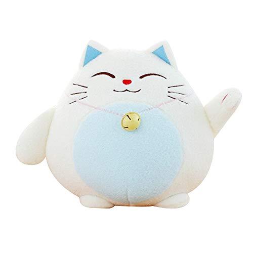 KINOMOTO Very Soft Cat Big Hugging Pillow Plush Kitten Panda Stuffed Animals (Blue Cat, 10'')