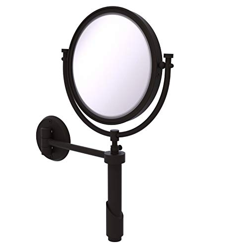 Allied Brass TRM-8/2X-ORB Extendable Wall Mirror 2X Mag Oil Rubbed -