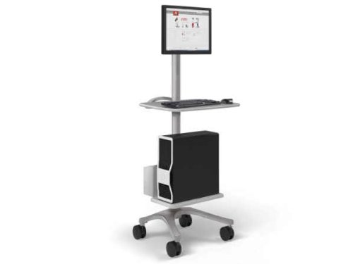 Anthro BZD06CG/CG4 ZIDO Fixed Computer CART PKG, Cool Grey