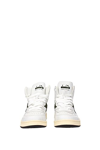 Diadora Mi 84 Used, Scarpe da Basket Unisex Adulto, Bianco (White/Grape Leaf), 44.5 EU Blanco