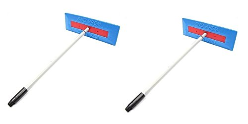 "SnoBrum Original Snow Removal Tool with 27"" to 46"" Compact Telescoping Handle- Remove snow from vehicles, awnings, pool/hot tub covers and more without Scratching (2 Pack)"