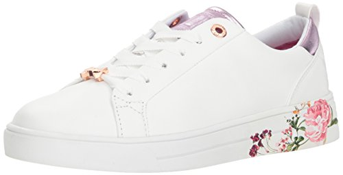 Women''s Sneaker Gielli Floral White Ted Leather Baker aq5xfZz
