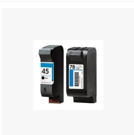 compatible ink cartridge for hp 45A 45 BLACK INK + 78 78A C6578A C6578A C6578D XL INKJET CARTRIDGES Fax 1220 1230 PSC 750 ()