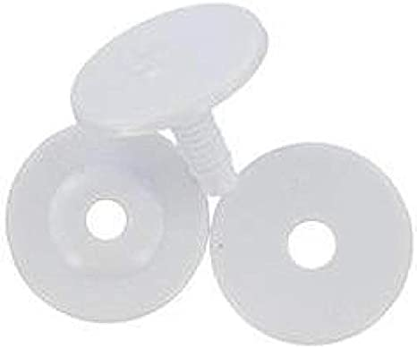 35mm Darice PW35 Craft Supplies 12ct Doll Joints White
