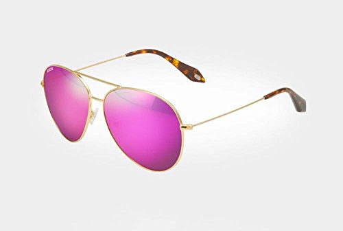 Sunglasses female polarized sunglasses female tide drove round face color film toad glasses (Gold-framed pink and purple - Gold Glasses Cartier Frame