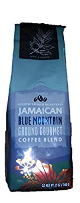 Jamaican Blue Mountain Ground Gourmet Coffee 12oz Ground Coffee from Exotic Island Roastery